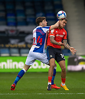 Blackburn Rovers' Joseph Rankin-Costello (left) battles for possession with Luton Town's George Moncur (right) <br /> <br /> Photographer David Horton/CameraSport<br /> <br /> The EFL Sky Bet Championship - Luton Town v Blackburn Rovers - Saturday 21st November 2020 - Kenilworth Road - Luton<br /> <br /> World Copyright © 2020 CameraSport. All rights reserved. 43 Linden Ave. Countesthorpe. Leicester. England. LE8 5PG - Tel: +44 (0) 116 277 4147 - admin@camerasport.com - www.camerasport.com