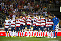 Columbus, Ohio - Tuesday, September 11, 2012: The USA defeated Jamaica 1-0 in the first round of World Cup Qualifying at Columbus Crew Stadium. The USA observes a moment of silence for the victims of the 911 attacks.