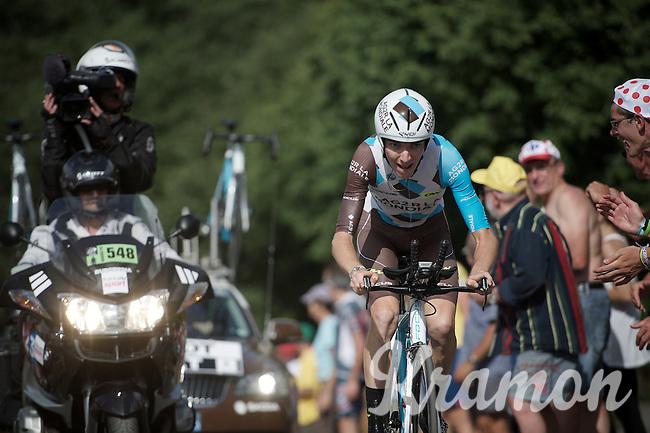 Romain Bardet (FRA/Ag2r-La Mondiale) cheered on<br /> <br /> Stage 18 (ITT) - Sallanches › Megève (17km)<br /> 103rd Tour de France 2016