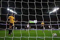 Ben Tozer of Newport County looks dejected after Dan Butler's deflection puts Tottenham into the lead during the Fly Emirates FA Cup Fourth Round Replay match between Tottenham Hotspur and Newport County at Wembley Stadium, London, England, UK. 07 February 2018