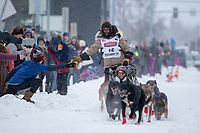 Famed musher Lance Mackey, Iditarod 2020 Ceremonial Start in downtown Anchorage, Alaska.