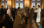 BLESSING THE THROATS SERVICE ST ETHELDREDA'S CHURCH LONDON