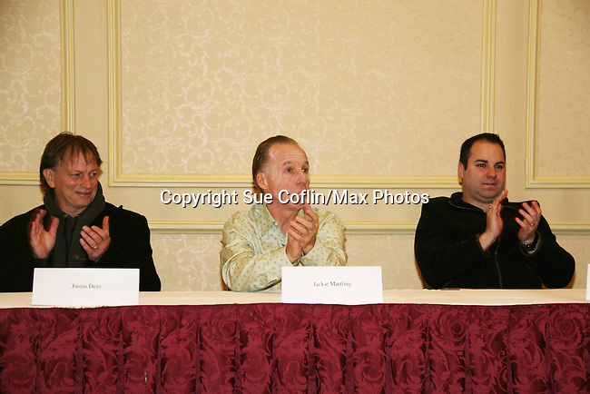 Justin Deas and Jackie Martling & Kenneth Del Becchio, new spokesperson & host of the Hoboken International Film Festival and the new indie film An Affirmative Act! - a groundbreaking gay marriage courtroom drama on January 21, 2010 at the Marriott Saddle Brook, Saddle Brook, NJ. (Photo by Sue Coflin/Max Photos)