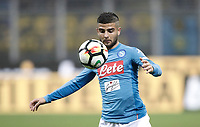 Calcio, Serie A: Inter - Napoli, Milano, stadio Giuseppe Meazza (San Siro), 11 marzo 2018.<br /> Napoli's Lorenzo Insigne in action with during the Italian Serie A football match between Inter Milan and Napoli at Giuseppe Meazza (San Siro) stadium, March 11, 2018.<br /> UPDATE IMAGES PRESS/Isabella Bonotto