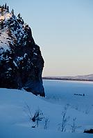 Hans Gatt Leaving Ruby Checkpoint onto Yukon River