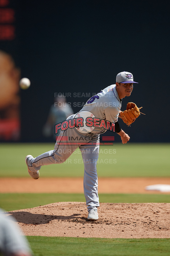 Winston-Salem Dash pitcher Jorgan Cavanerio (36) during a Carolina League game against the Carolina Mudcats on August 14, 2019 at Five County Stadium in Zebulon, North Carolina.  Winston-Salem defeated Carolina 4-2.  (Mike Janes/Four Seam Images)