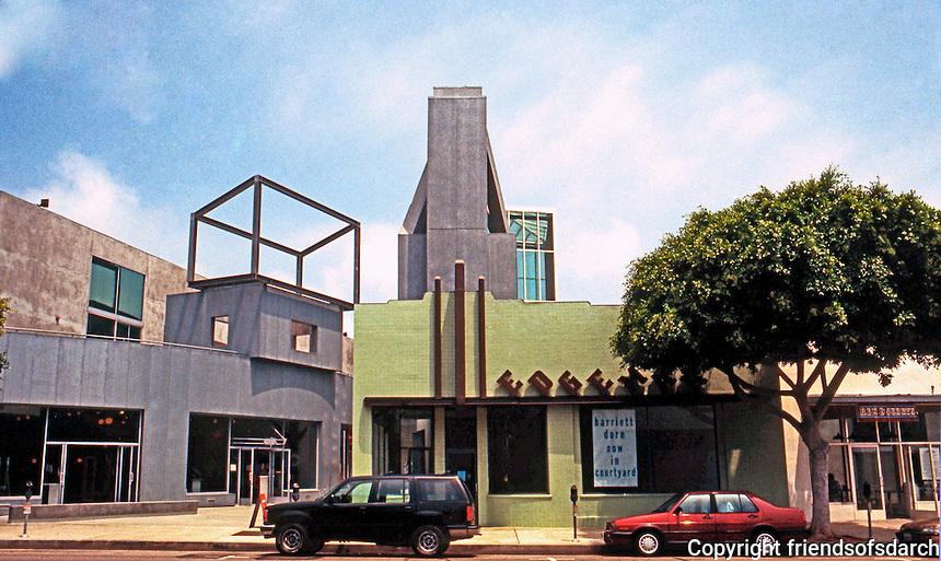 Frank Gehry: Edgemar Shopping Center, Santa Monica 1987.  Photo '91.