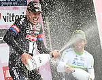 John Degenkolb (GER) Team Giant-Alpecin wins the 106th edition of the Milan-San Remo 2015 cycle race, Milan, Italy. 22nd March 2015. <br /> Photo: ANSA/Daniel Dal Zennaro/www.newsfile.ie