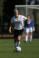16 September 2007: Stanford Cardinal Allison Falk during Stanford's 4-1 win in the Stanford Invitational against the Rutgers Scarlet Knights at Maloney Field in Stanford, CA.