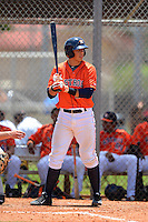 GCL Astros catcher Jacob Nottingham (27) during a game against the GCL Pirates on July 16, 2013 at Osceola County Complex in Kissimmee, Florida.  GCL Pirates defeated the GCL Astros 6-3.  (Mike Janes/Four Seam Images)