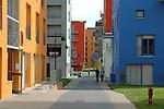 Le case colorate del villaggio olimpico di Torino. The Olympic Village in Torino.