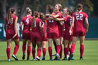 STANFORD, CA - September 3, 2017: Andi Sullivan at Cagan Stadium. Stanford defeated Navy 7-0.