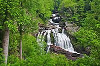 Cullasaja Falls in spring, Cullasaja River Gorge