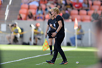 Houston, TX - Sunday March 25, 2018: Vera Pauw during a regular season National Women's Soccer League (NWSL) match between the Houston Dash and the Chicago Red Stars at BBVA Compass Stadium.