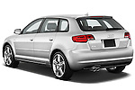 Rear three quarter view of a 2003 - 2012 Audi A3 Premium Sportback Hatchback.