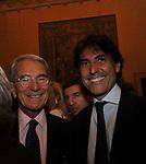 CARLO ROSSELLA E FEDERICO COCCIA<br /> PREMIO GUIDO CARLI - TERZA  EDIZIONE<br /> PALAZZO DI MONTECITORIO - SALA DELLA LUPA<br /> CON RICEVIMENTO  HOTEL MAJESTIC   ROMA 2012