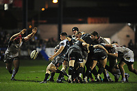 Matthew Aubrey of Ospreys in action during the Guinness Pro14 Round 15 match between the Ospreys and Ulster Rugby at Morganstone Brewery Field in Bridgend, Wales, UK. Friday 15 February 2019
