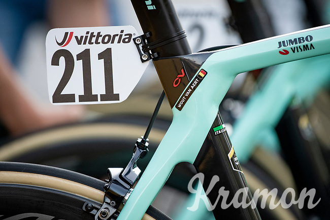 Wout Van Aert's (BEL/Jumbo-Visma) stead pre-race<br /> <br /> 111st Milano-Sanremo 2020 (1.UWT)<br /> 1 day race from Milano to Sanremo (305km)<br /> <br /> the postponed edition > exceptionally held in summer because of the Covid-19 pandemic calendar reshuffle