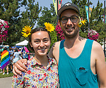 Alisha and Miko during the Pride Parade in downtown Reno on Saturday, July 28, 2018.