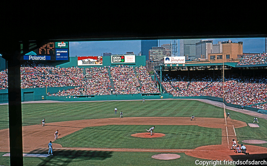Ballparks: Boston Fenway Park. 9th Inning. From the top of Grandstand Sat., June 1, 1991. Orioles win.