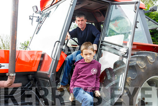 Asdee Vintage Tractor Run: Taking part in the Adee Vintage Tractor run on Sunday last were Fergus & Sean O'Keeffe from Knockanure.