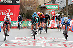 Jasper Philipsen (BEL) UAE Team Emirates wins Stage 15, ahead of Pascal Ackermann (GER) Bora-Hansgrohe and Jannik Steimle (GER) Deceuninck-Quick Step, of the Vuelta Espana 2020, running 230.8km from Mos to Puebla de Sanabria, Spain. 5th November 2020. <br /> Picture: Luis Angel Gomez/PhotoSportGomez | Cyclefile<br /> <br /> All photos usage must carry mandatory copyright credit (© Cyclefile | Luis Angel Gomez/PhotoSportGomez)