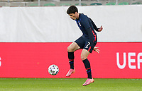 ST. GALLEN, SWITZERLAND - MAY 30: Giovanni Reyna #7 of the United States moves with the ball during a game between Switzerland and USMNT at Kybunpark on May 30, 2021 in St. Gallen, Switzerland.