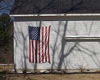 Flag and barn, Rye