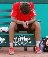 24-05-10, Tennis, France, Paris, Roland Garros, First round match, Robin Haase  is verslagen door Almagro