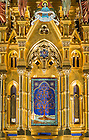 July 21, 2016; High Altar at the Basilica of the Sacred Heart. (Photo by Barbara Johnston/University of Notre Dame)