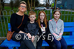 Enjoying the playground in the Listowel town park on Saturday, l to r: Mary, Adam and Siún McCarthy and Amy Walsh.