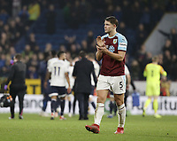 Burnley's James Tarkowski looks dejected as he applauds the fans at the final whistle<br /> <br /> Photographer Rich Linley/CameraSport<br /> <br /> The Premier League - Burnley v Everton - Wednesday 26th December 2018 - Turf Moor - Burnley<br /> <br /> World Copyright © 2018 CameraSport. All rights reserved. 43 Linden Ave. Countesthorpe. Leicester. England. LE8 5PG - Tel: +44 (0) 116 277 4147 - admin@camerasport.com - www.camerasport.com