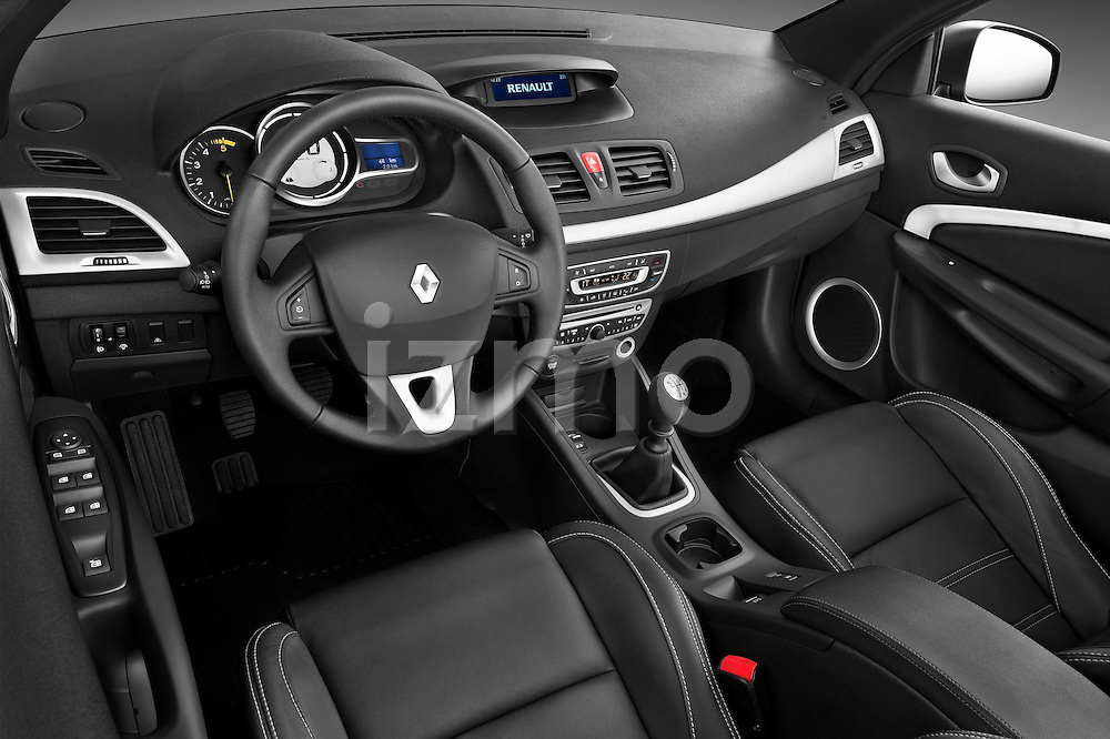 High angle dashboard view of a 2010 Renault Megane Coupe Convertible