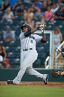Daytona Tortugas outfielder Phillip Ervin (6) at bat during a game against the Fort Myers Miracle on June 17, 2015 at Hammond Stadium in Fort Myers, Florida.  Fort Myers defeated Daytona 9-5.  (Mike Janes/Four Seam Images)