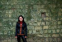 Tanya, Scharfschuetzin der pro-russischen Separatisten, Portrait, Donezk, Ukraine, 10.2014,  Tanya, 19-years old girl, the sniper of the pro-Russian militia portraited at her civil cloth at the suburb of Donetsk.  ***HIGHRES AUF ANFRAGE*** ***VOE NUR NACH RUECKSPRACHE***
