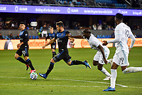 SAN JOSE, CA - MARCH 7: Vako #11 of the San Jose Earthquakes is marked by Ike Opara #3 during a game between Minnesota United FC and San Jose Earthquakes at Earthquakes Stadium on March 7, 2020 in San Jose, California.