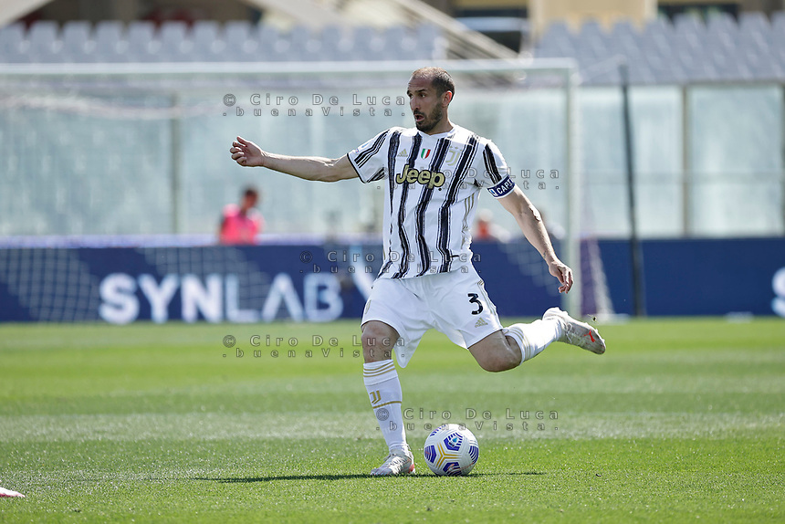 Giorgio Chiellini of Juventus  during the  italian serie a soccer match,Fiorentina - Juventus at  theStadio Franchi in  Florence Italy ,