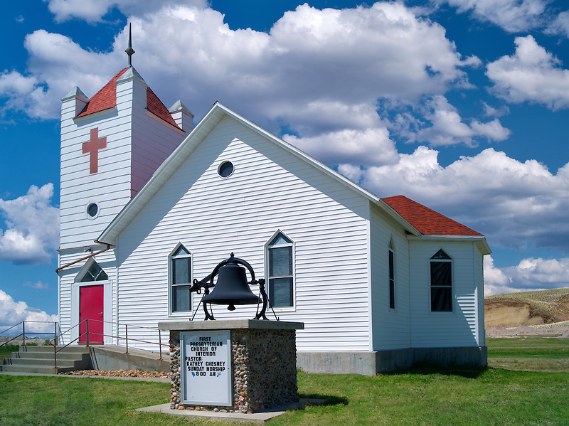 Presbyterian church in rural Interior, South Dakota