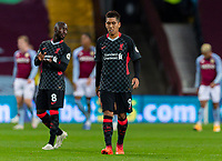 4th October 2020, Villa Park, Birmingham, England;  Liverpools Roberto Firmino leaves the field dejected after the English Premier League match between Aston Villa and Liverpool at Villa Park