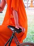 Monk and Bike, Vientiane, Laos