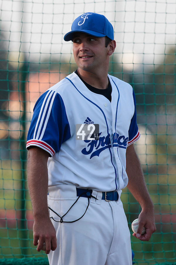 21 August 2010: Jean-Michel Mayeur of Team France is seen during Russia 13-1 win in 7 innings over France, at the 2010 European Championship, under 21, in Brno, Czech Republic.