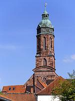 Turm der Marktkirche St. Jacobi, Einbeck 13.-14. Jh., Niedersachsen, Deutschland, Europa<br /> Marketchurch St. Jacobi 13./14. c., Einbeck, Lower Saxony, Germany, Europe