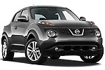 Low Aggressive Passenger Side Front Three Quarter View 2011 Nissan Juke SV SUV Stock Photo