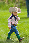 Young cowgirl Hannabell Barbee at the Jordan Valley Big Loop Rodeo