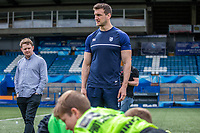 Cardiff and Vale College Competition winners Maesteg Comprehensive take part in a Cardiff Blues and Sam Warburton Training Session in Cardiff, Wales, UK. Wednesday May 09 2018