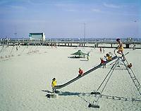 Wildwood Playground Wildwood New Sersey ( Bandstand &Boardwalk Behind )