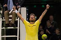 Rotterdam, The Netherlands, 16 Februari 2019, ABNAMRO World Tennis Tournament, Ahoy, Semis, Stan Wawrinka (SUI) winner,<br /> Photo: www.tennisimages.com/Henk Koster