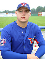 August 16, 2003:  Pitcher Brett Reid of the Vermont Expos, Short Season Class-A affiliate of the Montreal Expos, during a NY-Penn League game at Dwyer Stadium in Batavia, NY.  Photo by:  Mike Janes/Four Seam Images