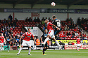 Luke Freeman of Stevenage and James Chambers of Walsall header<br />  - Walsall v Stevenage - Sky Bet League One - Banks's Stadium, Walsall - 19th October 2013. <br /> © Kevin Coleman 2013