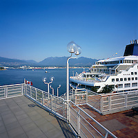 Cruise Ship docked at Canada Place Cruise Ship Terminal, Vancouver, British Columbia, Canada